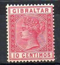 Gibraltar:1889:10c, Carmine,(In Spanish Currency).M.Mint.