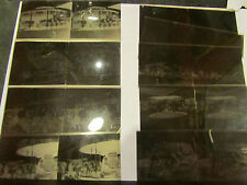 9 anciennes photos stereo souple fete foraine maneges attractions