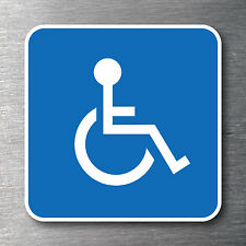 Disabled icon sticker Premium quality 7 year water/fade proof vinyl