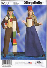 Misses Dr Who Time Traveler Cosplay Costume Sewing Pattern Plus 14 16 18 20 22