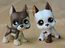 Hasbro Littlest Pet Shop Toys Rare Figure Great Dane Dog Puppy LPS #817 & #577