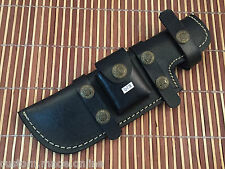 Hand Made Well Stitched Leather Sheath- Knives-Black-BushCraft-JayGer-S13