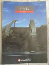 VAUXHALL ASTRA CABRIOLET brochure gamma 1991 ed 1