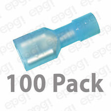 """FEMALE FULLY INSULATED QUICK DISC TERMINAL NYLON .25"""" BLUE 16-14g #103D-100PK"""