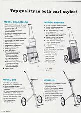 VINTAGE AD SHEET #2817 - HERITAGE GOLF CLUB CARTS