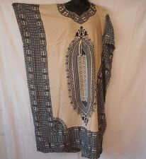 Womens Caftan maxi Dress hippie African dashiki Kaftan beach coverup plus size