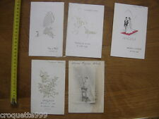Annees 60 Lot de MENU CARTE mariage communion religion vin gastronomie Francaise