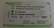 Ticket for collectors CL Rabotnicki Skopje HJK Helsinki 2014 Macedonia Finland