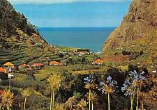 Portugal S Vicente Madeira Panorama Flowers Houses General view