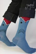 Shark Socks -K. Bell NWT Blue Crew Arch Compression Socks punk Nautical Derby