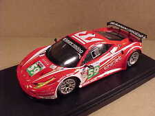 Fujimi 1/43 Resin Ferrari 458 Italia GT2, 2011 LeMans, Luxury Racing #TSM11FJ020