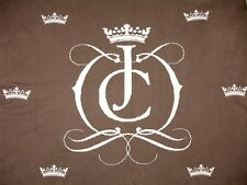 """Juicy Couture Baby Blanket 36""""x 45"""" Brown White Crowne EUC"""