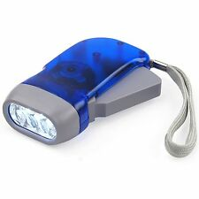 Torcia Ecologica Portatile a Dinamo Hand-Pressing Flash Light Luce 3 Led moc