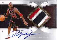 2006-07 Exquisite MICHAEL JORDAN Auto 3 Color Patch Jersey Card #d 100 BULLS