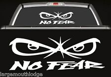 NO FEAR BADBOY EYES JDM RACING LARGE FORD DODGE CHEVY WHITE DECAL STICKER
