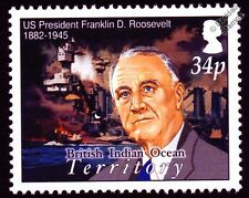 WWII Pearl Harbor - Franklin D.Roosevelt & USS WEST VIRGINIA BB-48 Warship Stamp