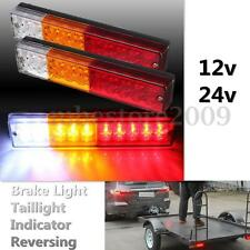 2x 12/24V Rear Stop LED Lights Tail Indicator Reverse Lamp Trailer Truck Tipper