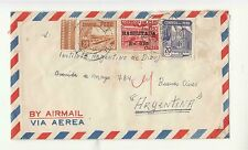 1951 PERU' AIR MAIL cover to ARGENTINA-YT PE411+412+PA97-f549