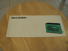 Vtg 1971 ORIGINAL Catalog/Brochure~SIERRA BULLETS~Ammunition~Ephemera~Paper~