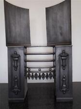 Fully Restored Original Antique Georgeon Cast Iron Hob Grate Fireplace 23 3/4""