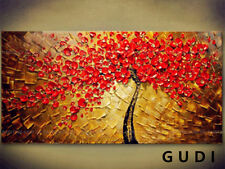 GUDI-Modern Abstract Art Manual Oil Painting Wall Deco canvas Tree Unframed