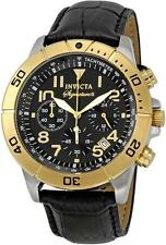 Invicta 7284 Signature II Chronograph Tachymeter Date Leather Strap Mens Watch