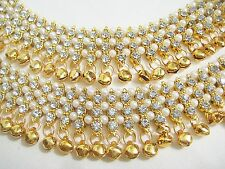 Designer Belly Dance Gold Plated Stone Gold Bells Payal /Anklet Party Jewellery