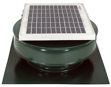 Round Back Attic Roof Vent Solar Fan 8 In 5W 12V 365CFM Active Ventilation Green