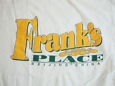 Vintage Frank's Place Beijing China Bar Grill Club Tourist T Shirt L