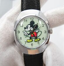MICKEY MOUSE,Swiss,Manual Wind, Vintage MEN'S WATCH,MINT! 1352,L@@K