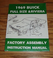 1969 Buick Full Size & Riviera Factory Assembly Instruction Manual 69