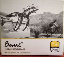 BLACK SARIS BONES 3 BIKE BICYCLE CAR TRUNK RACK CARRIER #801 NEW NIB FREE SHIP