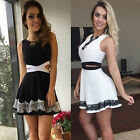 Sexy Women Casual Summer Cocktail Party Evening Sleeveless Lace Short Mini Dress