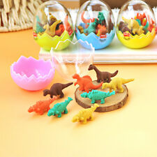 8x Cute Mini Dinosaurs Pencil Rubber Eraser Students Kid Office Stationery Gifts
