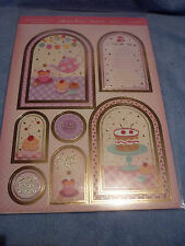 Hunkydory adorable mesurables tea for two gilded toppers feuille & 2 cartes A4