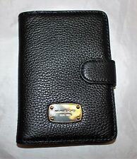 NWT Michael Kors Jet Set Leather Passport Holder Case Wallet - Black