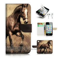 iPhone 4 4S Flip Wallet Case Cover! S8363 Horse