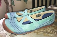 Keen Rivington CNX Criss-Cross Women US 8 EU 38.5 Aqua Blue Mary Janes Excellent