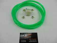 "ELECTRIC GREEN 1/4"" FUEL LINE & FILTER KIT SNOWMOBILE DIRT BIKE QUAD MOTORCYCLE"