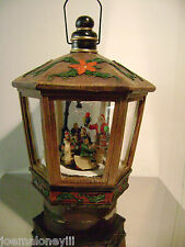 LORD & TAYLOR CHRISTMAS SANTA  VILLAGE THEME MUSICAL LANTERN HOLIDAY DECOR