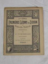 RARE CAHIER DE DESSIN METHODE PROGRESSIVE SCHINDELER PREMIERES LECONS CIRCA 1900