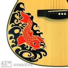Red Koi - Acoustic Guitar Graphic Decal - fits full size dreadnought guitar body