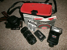 Zenith TTL Camera - 2 x Lenses - Flash - Bag - Filters - Manual - Vintage - 35mm