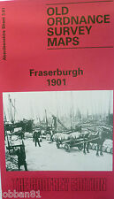 OLD ORDNANCE SURVEY MAP FRASERBURGH  NEAR PETERHEAD SCOTLAND 1901 SHEET 3.01