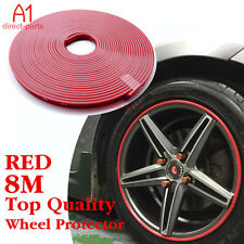 NEW RED Rubber Wheel Protector FITS 4 RIMS Car Vehicle Tire Guard Line Moulding