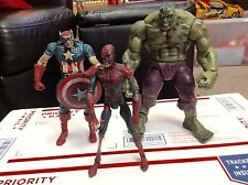 MARVEL SELECT ZOMBIES Hulk Spider-Man Colonel America Figures COMPLETE SET 2007