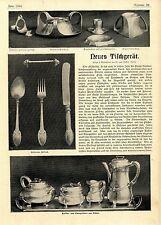 Hermann Friling Neues Tischgeschirr aus Silber Essay von 1902