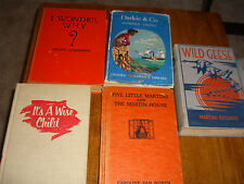 Lot of 5 Children's Vintage Books Wonder Why, Geese, Martins, Darlie & Co. Wise