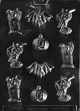 BS HALLOWEEN ASSORTMENT MOLD H4 bat witchChocolate Candy molds cupcake toppers