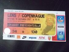 Billets - 2007 lentille v copenhague, 19 septembre 2007 (coupe uefa)